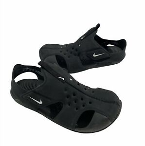 Nike Sunray Protect Kids Unisex Black Sandals/water Shoes~size 3Y