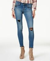 Articles of Society Juniors' Sara Released-Hem Distressed Skinny Jeans Size 27