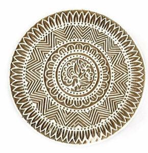 Large Fabric Stamp Wooden Round Mandala Print Block Boho Textile Printing