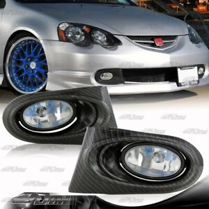 For 02-04 Acura RSX DC5 Clear Lens Bumper Fog Driving Lights Lamps+Switch+Bulbs