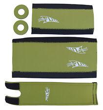 FLITE NEO mid school BMX neoprene foam padset pads*LIMITED EDITION* OLIVE GREEN