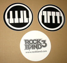 3 x Rock Band 3 very rare promo Stickers Sticker