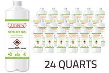 Ignis Bio Ethanol Fuel 24 Pack Ethanol fireplace fuel 1 Quart each = 6.5 Gallon