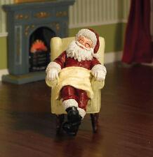 Sleeping Santa, Dolls House Miniatures, Christmas, Santa Claus