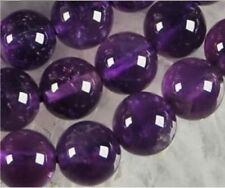 "10mm Russican Purple Jade Gemstone Round Loose Beads 15""AAA"