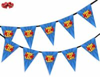 Divorce Party Bunting Banner 15 flags - At Last Free - Hero Style by Party Decor