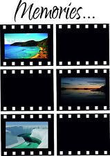 Memories Wandtattoo, Tattoo, Sticker, Bilderrahmen, Foto Negativ, Rahmen, Film