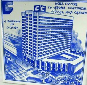 Vintage Mod RAKO Ceramic Tile Aruba Concorde Hotel Casino 6 x 6 Czechoslovakia