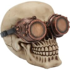 Visionary Skull Head Steampunk Gothic Figure Ornament Art Figurine Decor Gifts