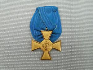 Orden-Kreuz :  Dienstauszeichnung Preußen für 25 Jahre am Trage-Band