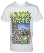Authentic MUNICIPAL WASTE Band The Art of Partying T-Shirt White S-2XL NEW