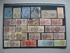 CINDERELLA FRANCE, small lot used revenue stamps
