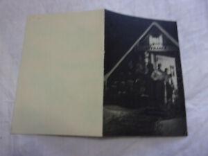 LITTLE BOHEMIA LODGE RESORT 1939 WANATKA XMAS NEW YEARS PHOTO CARD DILLENGER