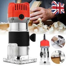 """UK 30000RPM Electric Hand Trimmer Wood Laminate Palm Router Joiners 800W 0.25"""""""