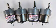 Lot Of 4 Hsiang Neng Geared Motor Hn Gh12 1634t Head 12vdc 301 200 Rpm