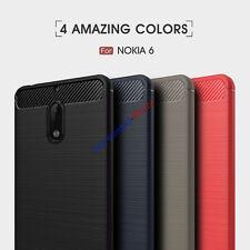 Shockproof Hybrid Brushed Skin Soft Case Cover For Nokia 6 / 5 / 3 silicone case