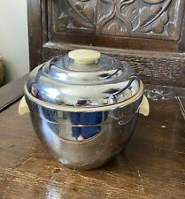 Vintage Retro Ice Bucket - 1950's - Chrome & Bakerlite