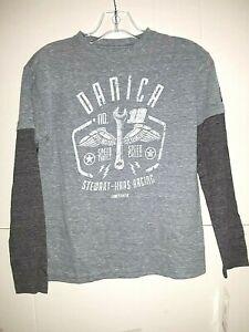 Danica Patrick # 10 Nascar Boys Grey Long Sleeve Shirt, Size Medium 10-12