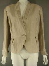 Plus Size Linen Button Coats & Jackets for Women