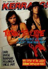 Kerrang Magazine 5 November 1988      Queensryche      Helloween      Artch