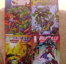 Lote de 4 Comics, WildC.A.T.S, números 10, 11, 12 y 13, World Comics, Image, Jim