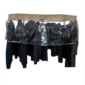 "Closet Rod Clothing Rack Shoulder Garment Dust Cover | Adjustable 26"" - 48"" long"