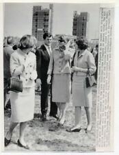 TED KENNEDY with KENNEDY SISTERS original wire photo 1964 JFK
