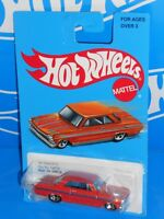 Hot Wheels 2017 Target Retro Series '63 Chevy II Orange w/ 5SPs