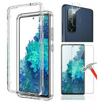 For Samsung Galaxy S20 FE 5G Crystal Clear Case Cover Camear & Screen Protector