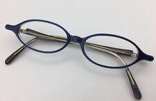 Maryam Zaim eyeglass frames irridescent blue with purple accents 46-14-145