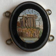 Antico 19th secolo MICRO MOSAICO PANNELLO rovinare eventualmente Foro Romano 23mm x 20mm