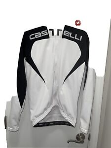 Castelli Women's Large Cycling Jacket White Black Accents