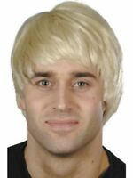 Blonde Short Guy Wig Adult Mens Smiffys Fancy Dress Costume