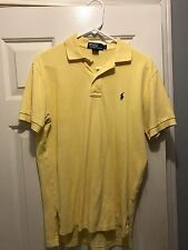 Ralf Lauren Short Sleeve Polo Men's Yellow Size Small