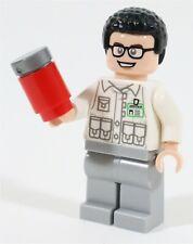 LEGO JURASSIC PARK WORLD DENIS NEDRY MINIFIGURE - MADE OF GENUINE LEGO PARTS