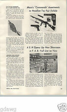 1955 PAPER AD Article Maco Toy Guns Rifles Commando Marcie Doll Dolls A&H Pin-Up