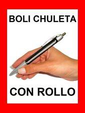 BOLIGRAFO CHULETA CON ROLLO - BOLI PARA LOS EXÁMENES. ESTUDIANTE TRAMPA PEN !