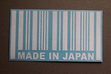Made In Japan Barcode Sticker Decal Vinyl JDM Euro Drift illest Fatlace ballin