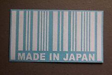 Made In Japan Barcode Sticker Decal Vinyl JDM Euro Drift illest Fatlace ballin