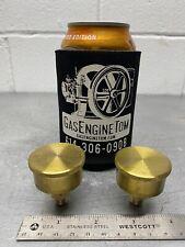 Pair Medium Brass Grease Oil Cup Hit Miss Gas Engine Steam Antique