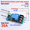 DC12V 24V 30A Multifunction Time Delay Relay Module Turn On/Off High Power 1s-1h