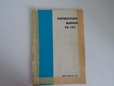 Yaesu FR-101 (Original Manual De Instrucciones Solamente)... radio _ trader _ Irlanda.