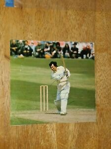 Asif Iqbal Pakistan Test Cricketer Signed Magazine Photo