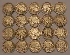 Half Roll of FULL DATE 1936 Buffalo Nickels--20 Coins in All--VERY Sharp Dates!