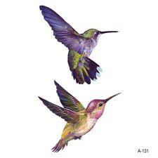 Temporary Tattoo Stickers Body Art Waterproof Painted Humming Bird Body Art Bird