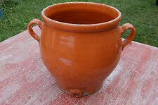 Pot en terre cuite vernissée - Vinaigrier - décoration jardin-----//Rac bleu//