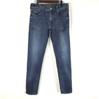 American Eagle Mens Denim Blue Jeans Slim Straight Medium Extreme Flex 34x34
