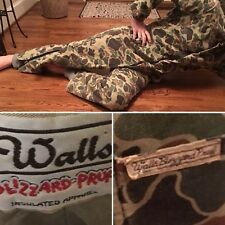 Vtg Walls Blizzard Proof Pruf Camo Camouflage Coveralls Usa Jumpsuit Large