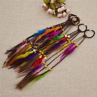 1x DIY Hair Jewelry Feather Hair Extension Boho Hair Braid Dreadlock Beads Decor