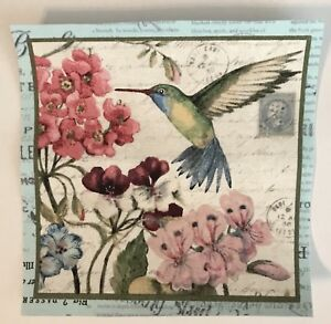2 Pastel Hummingbird Patches - Iron On fabric Appliques